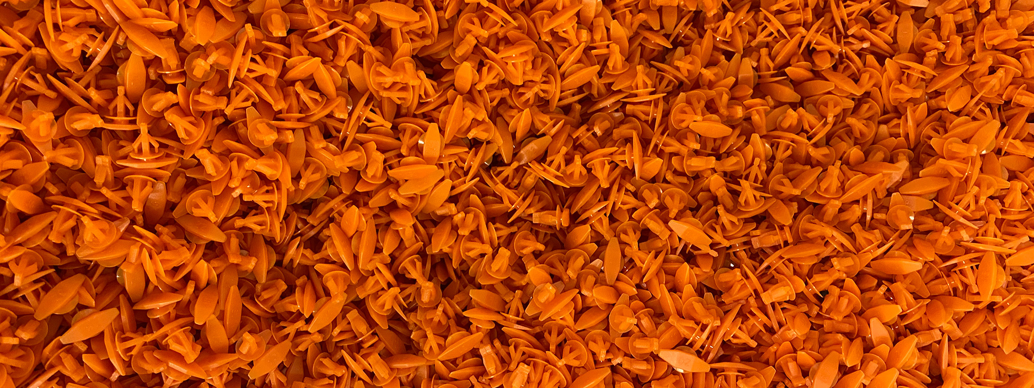 Injection Moulded Plastic Orange Clips